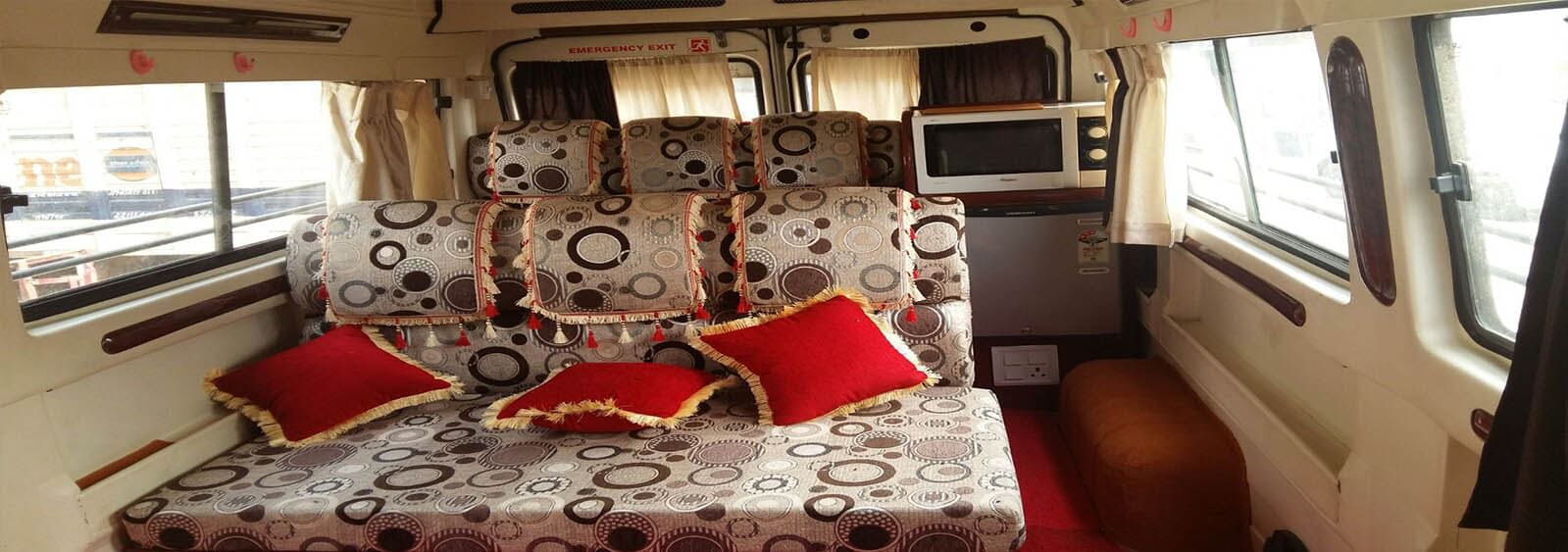 Tempo Traveller On Rent With Washroom